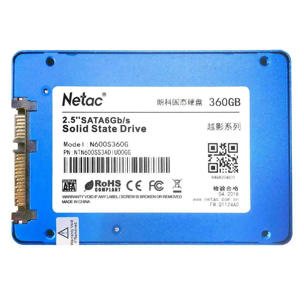 Netac N600S 360 GB SSD 2.5in SATA6Gb/S TLC NAND Blitz Polos State Mendorong Masukan 32 MB Cache dengan r/W Hingga 530/480 MB/s-Internasional