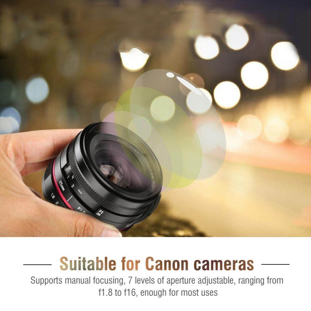 ... 25mm f1.8 Manual Focusing Lens for DSLR SLR Cameras Lenses Accessories (for Canon ...