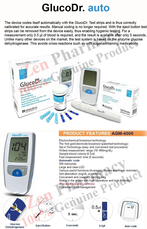 Gluco Dr Blood Glucose Test Meter Auto Agm 4000 Referensi Daftar Strip Gula Darah Glucodr Supersensor 2200 Product Details Of Glucometer 25 Strips