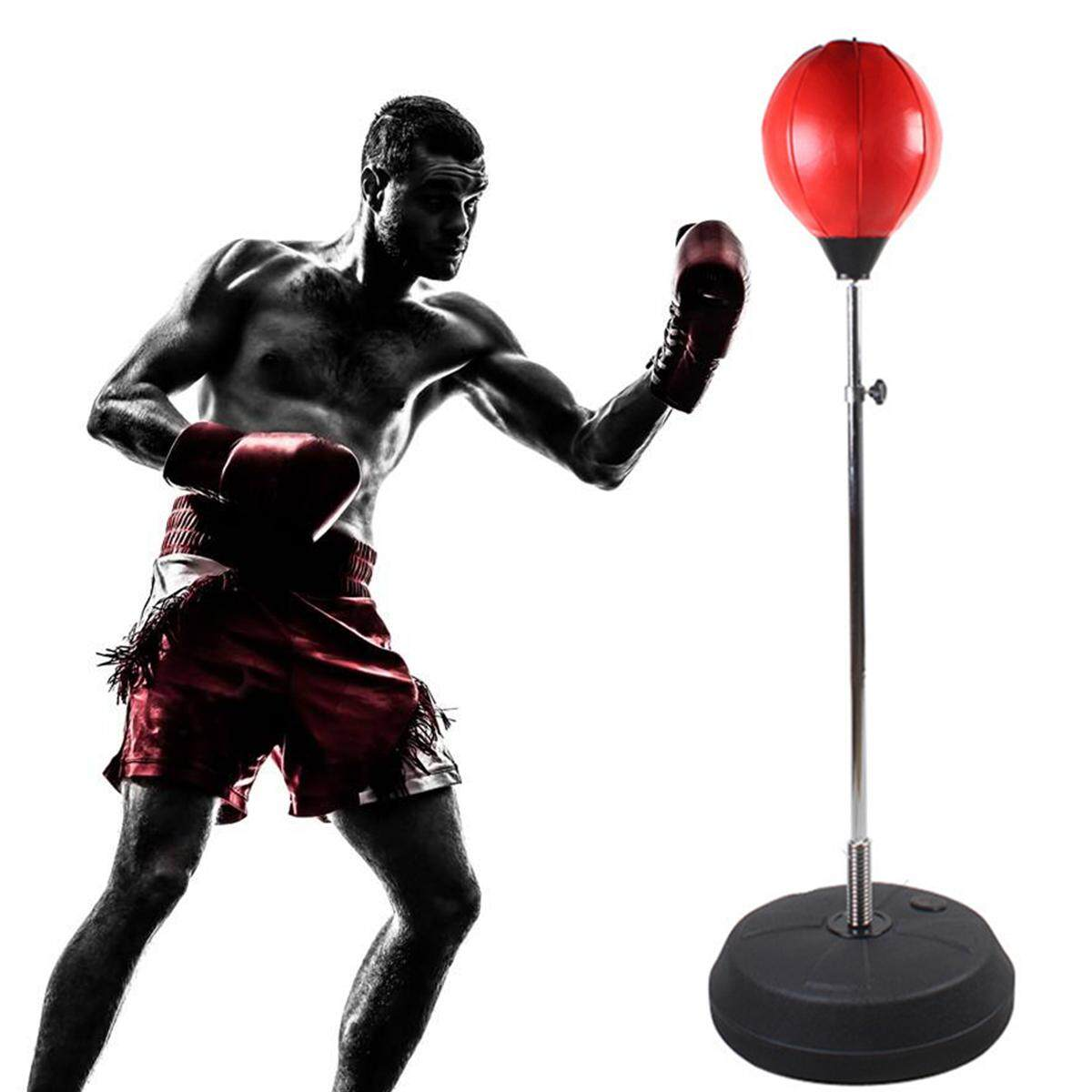 Hình ảnh Adjustable Free Standing Punching Speedball Fitness Boxing Punching Bag Trainer