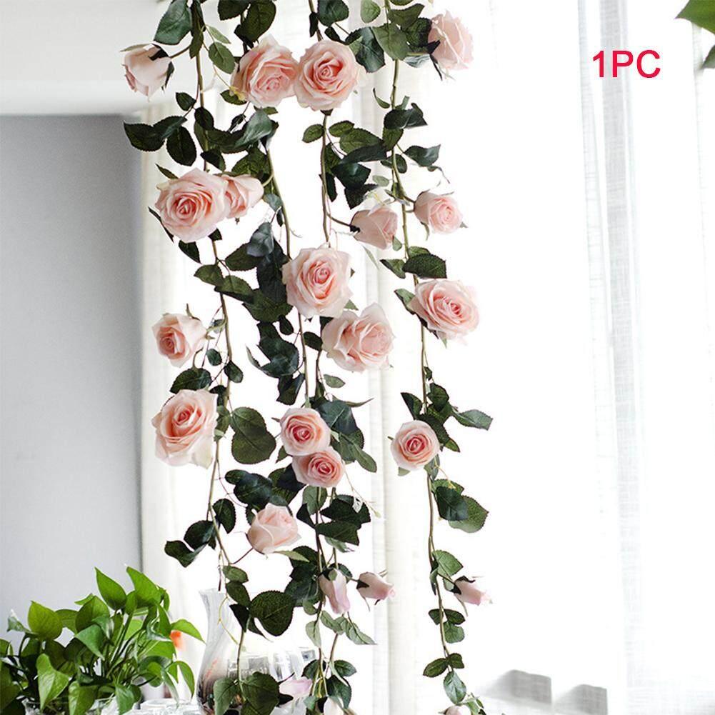 180 Cm Real Hanging Rose Decorative Wedding Artificial Flower Silk Garland Plant Vine Leaves