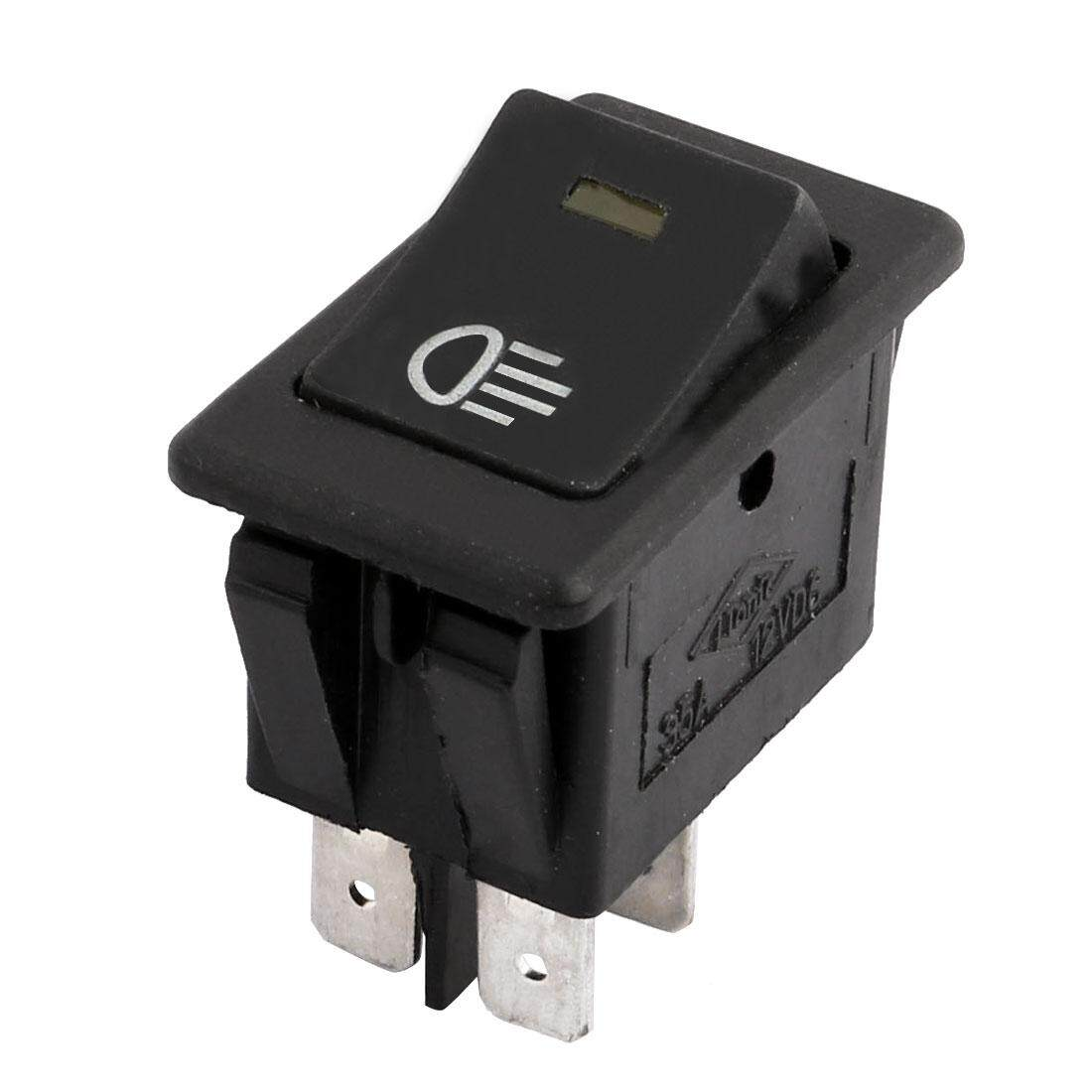 Buy Sell Cheapest Axa 12v Yellow Best Quality Product Deals Rocker Switch Spst X2 With Red Green Indicator Lamps Dc 4 Pins Car Fog Lamp Light On Off Foglight