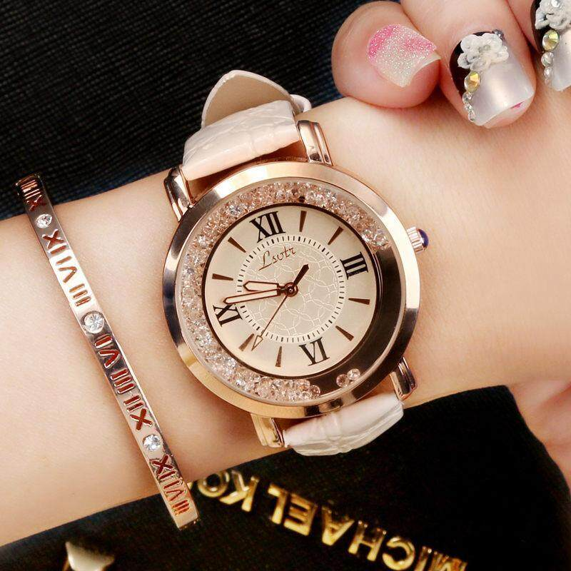 Womens Korean-style Fashion Luxury Rhinestone Quartz Watch Malaysia