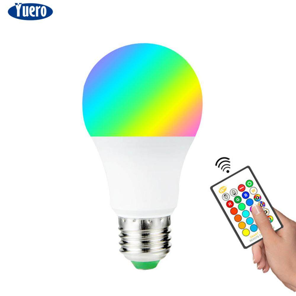 Yuero Colorful RGB Smart Dimmable LED Light Bulb 15W 10W 5W 3W E27 Base with Remote Singapore