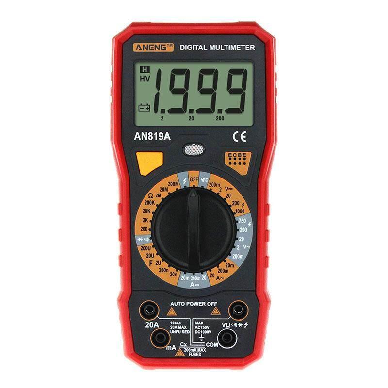 AN819A Digital Lampu Latar Multimeter AC/DC Voltmeter Ammeter Ohm Meter Portabel Profesional dan Praktis-Internasional