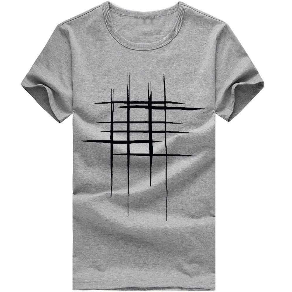 7be85919f3b4 nagostore Men Printing Tees Shirt Short Sleeve T Shirt Cotton Casual Blouse