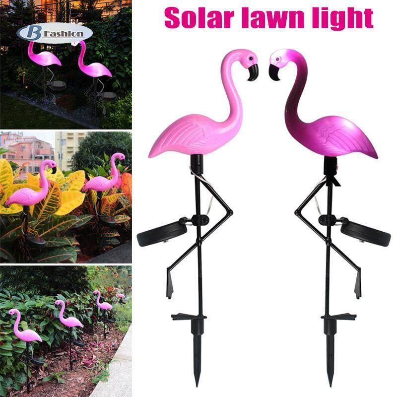 B-F 1 Pcs Solar Power LED Light Lamp Flamingo Waterproof Decoration For Outdoor Lawn Garden