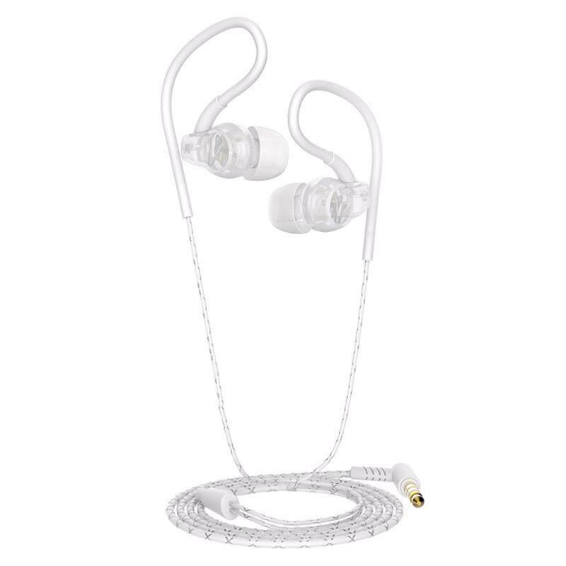 หูฟังออกกำลังกายหูฟังกันน้ำชุดหูฟังแบบเกี่ยวหูพร้อมไมโครโฟน 3.5 มม. หูฟังโทรศัพท์มือถือสำหรับหูฟังสำหรับวิ่งสำหรับ Xiaomi
