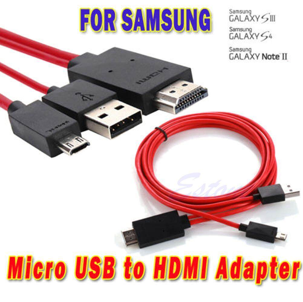 2M Micro USB MHL To HDMI HDTV 1080P Cable Adapter - intl