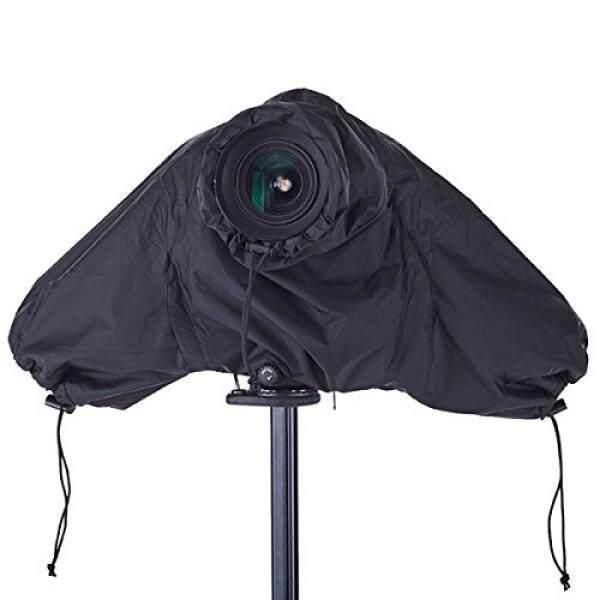 Haoge Tahan Air Pelindung Hujan Pelindung Kamera Yg Tahan Hujan dengan Tertutup Tangan Lengan untuk Canon Nikon Sony Olympus Pentax Panasonic Digital Kamera SLR dan Lensa Hitam