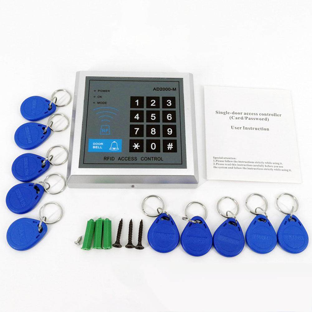 LumiParty Security RFID Proximity Entry Door Lock Control System with 10 Keys Senser Reader AD2000-M
