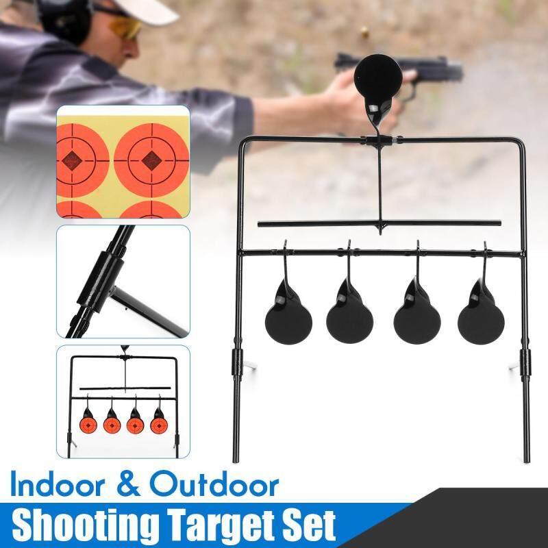 5 Metal Steel Plate Auto Reset Spinner Shooting Target Combo 22LR Gu n Gallery