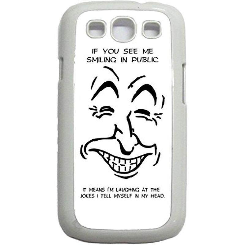 Baru Jika Anda Melihat Saya Tersenyum Di Depan Umum Artinya Aku Menertawakan Lelucon Aku Berkata Pada Diriku Sendiri Dalam kepala Saya-Case untuk Samsung Galaksi S III-S3-Keras Plastik Putih Tempatkan On Case-Internasional