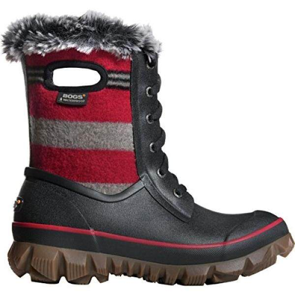 Bogs Womens Arcata Stripe Waterproof Winter Boot Red Multi US - intl