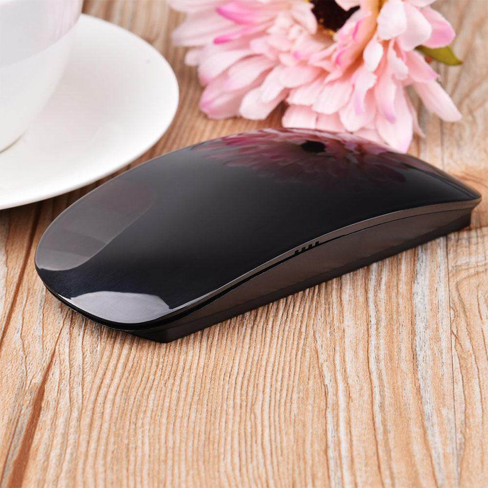 Ergonomic USB Wireless Slim Mouse Touch Stripe Scroll 2.4G 1200 DPI Optical Mini Mouse for Laptop Desktop PC
