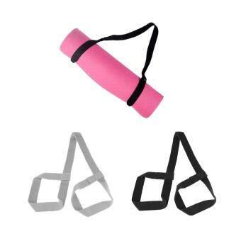 ราคาดีที่สุด Flameer 2Pcs Adjustable Yoga Mat Sling Looped Strap Shoulder Carry Belt Stretch Band ล่าสุด