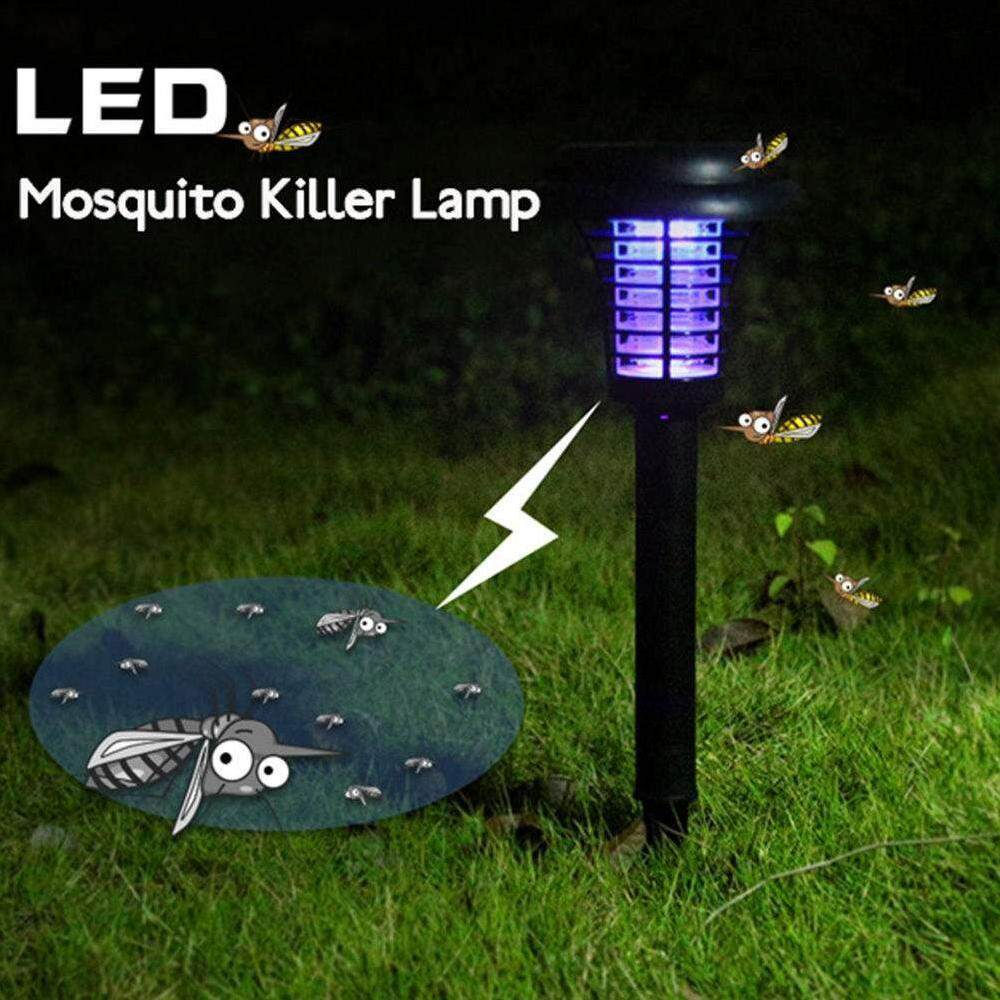 Yuchen Solar Powered Garden Path Light Electronic Bug Zapper Pest Control Wireless Insect Mosquito Killer with LED UV Light Singapore