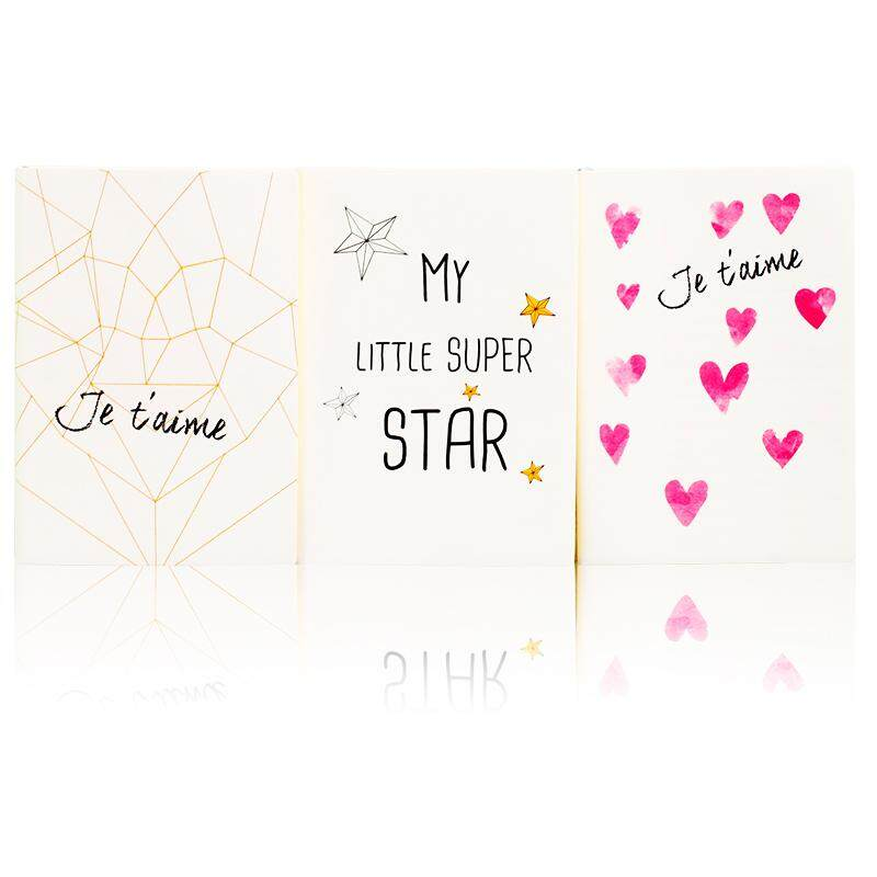 Deli 22213 Sampul Buku buku catatan modis murid Barang buku harian minimalis kepribadian Cinta Imut notebook
