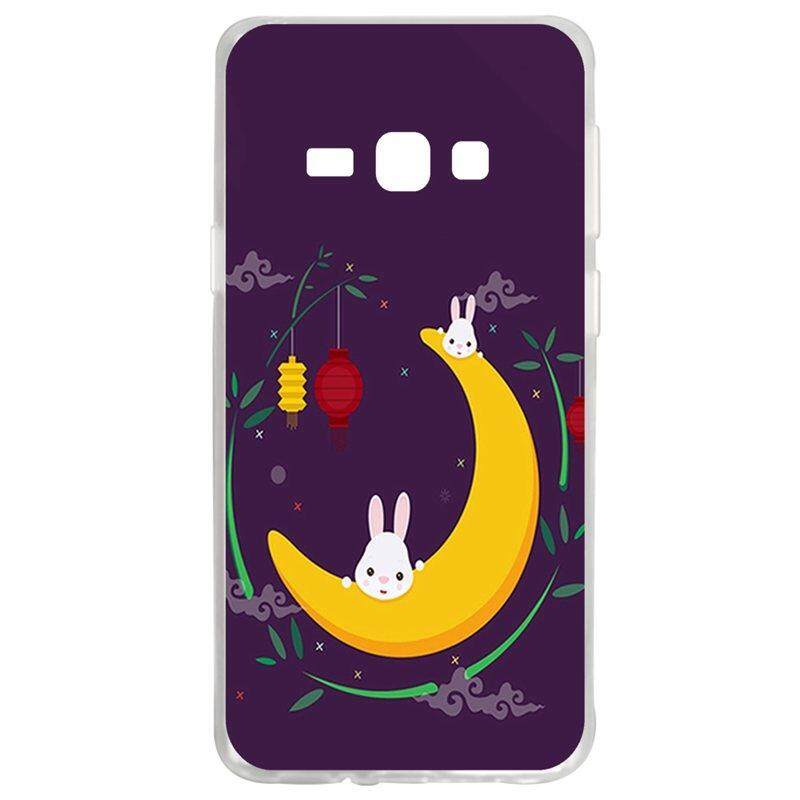Moon Rabbit TPU Soft Silicon Phone Case Cover For Samsung Galaxy J1 2016 J120