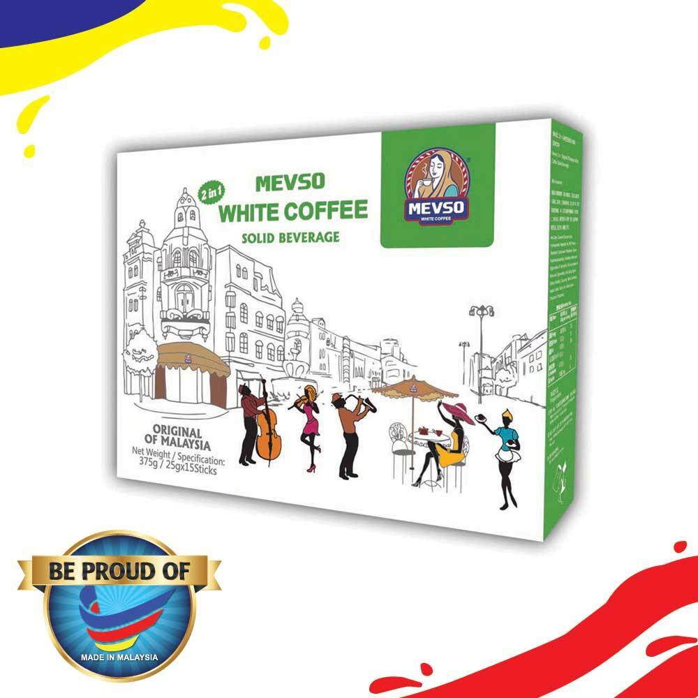 MEVSO 2 in 1 White Coffee - Original of Malaysia (25g x 15 Sticks)