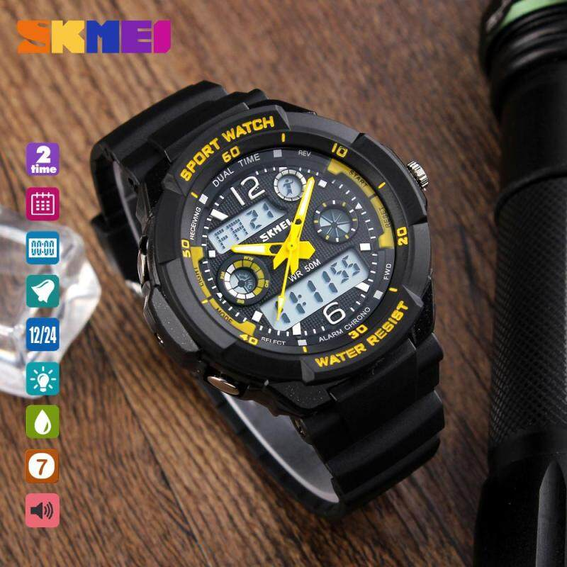 Nơi bán SKMEI 1060 Teenager Fashion Watch Casual Digital Wristwatch Alarm Hourly Chime Split Time Chronograph Date Week 50m Waterproof EL Backlight