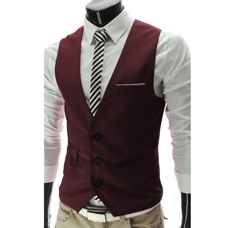 ... Korean style Men s Suit Vest Slim Fit Suit Vest Spring and Autumn Thin Section Autumn