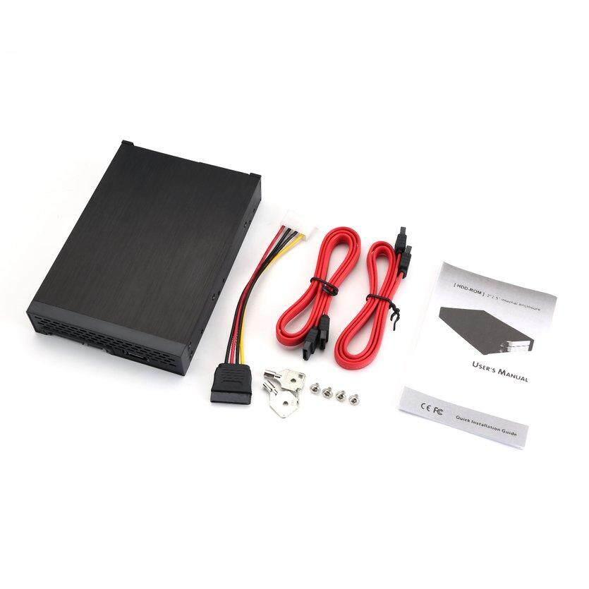 Carcool Aluminium SATA Perangkat Keras Kandang Drive Disket Bay Hot Swap Internal HDD Case