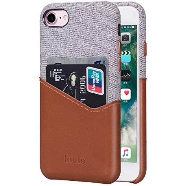 IPhone 8 Case iPhone 7 Case, lopie [Sea Island Cotton Seri] Kain Potongan