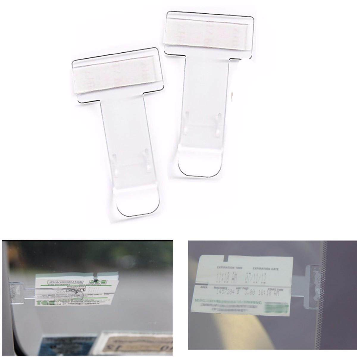 2pcs Car Vehicle Parking Ticket Permit Holder Clip Sticker Windscreen Window Usa By Glimmer.
