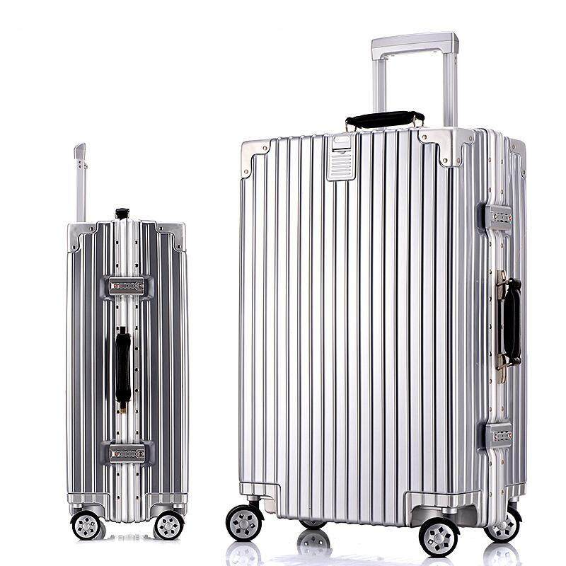 20 Inch Aluminum Frame Spinner Luggage Carry-on Cabin TSA Scratch Resistant Travel Trolley Rolling Luggage Suitcase Wheels - intl