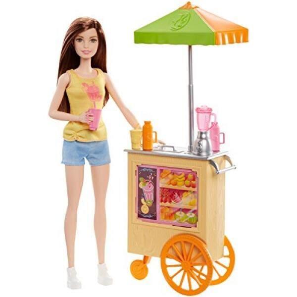 Barbie Karir Smoothie Chef Playset dengan Boneka Berambut Coklat-Intl