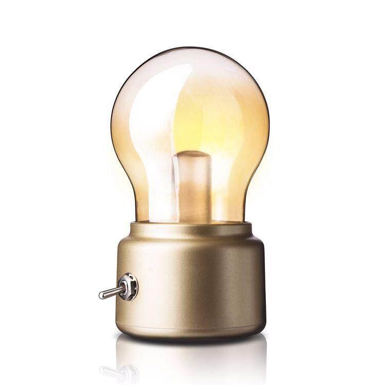 Creative Led Retro Bulb Night Light European Style Decorative Desk Lamp Table Bedside Usb