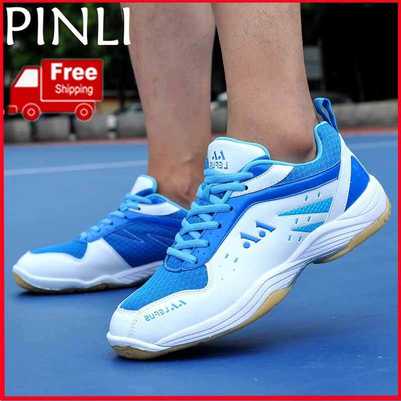 PINLI [Free Shipping] Women's Men's Portable Wearable Badminton Shoes Non slip Badminton Shoes With Outdoor Sports Shoes