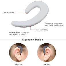 Jiuch S103 Tulang Konduksi Bluetooth Nirkabel Earhook Earphone S Earphone Earbud dengan Mikrofon Terpasang Stereo Handfree