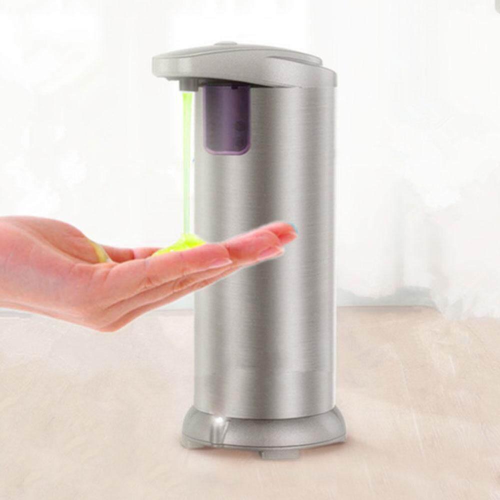 Leegoal เครื่องจ่ายสบู่เหลว, อัตโนมัติโดยไม่ต้องสัมผัสเครื่องจ่ายสบู่เหลว, แฮนด์ฟรีเซ็นเซอร์ตรวจจับการเคลื่อนไหว Liquid เครืองจ่ายสบู่, สแตนเลส, กันน้ำสำหรับห้องครัวห้องน้ำ - Intl.