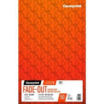 New Clearprint 1000h 100 Cotton Design Vellum Pad With 8x8 Fade Out