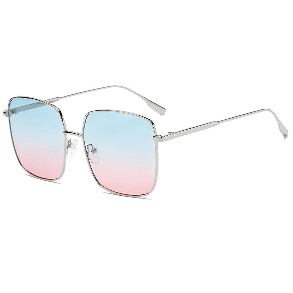 Unisex Pertahanan Sinar Ultarviolet Kacamata Hitam Pria Wanita Bingkai Logam Kacamata Kotak Olahraga Bersepeda Kacamata Hitam