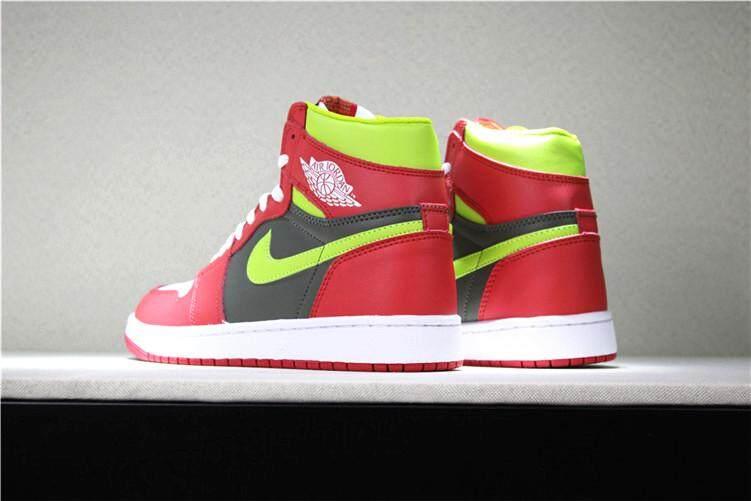 840e436de30b08 Nike Official Michael Jordan 1 Air Jordan MEN Basketaball Shoe MJ AJ Red  White Sneakers