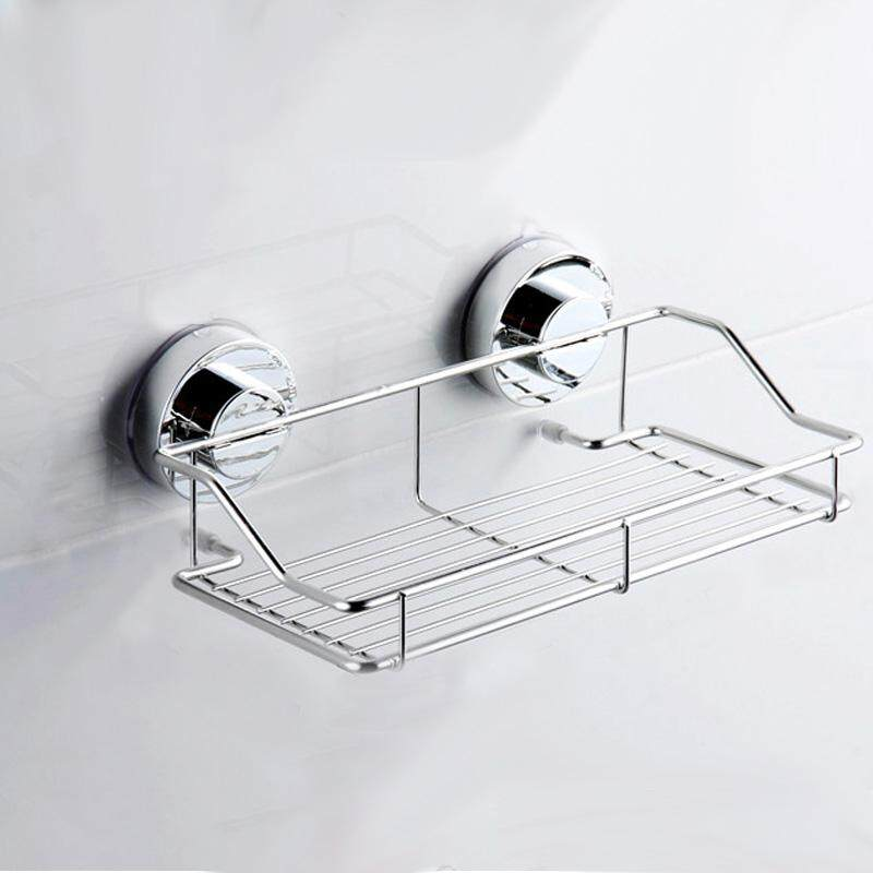 Suction Cup Adhesive Wall Mounted Bathroom Shelf Households Rack By Sunshineyou.