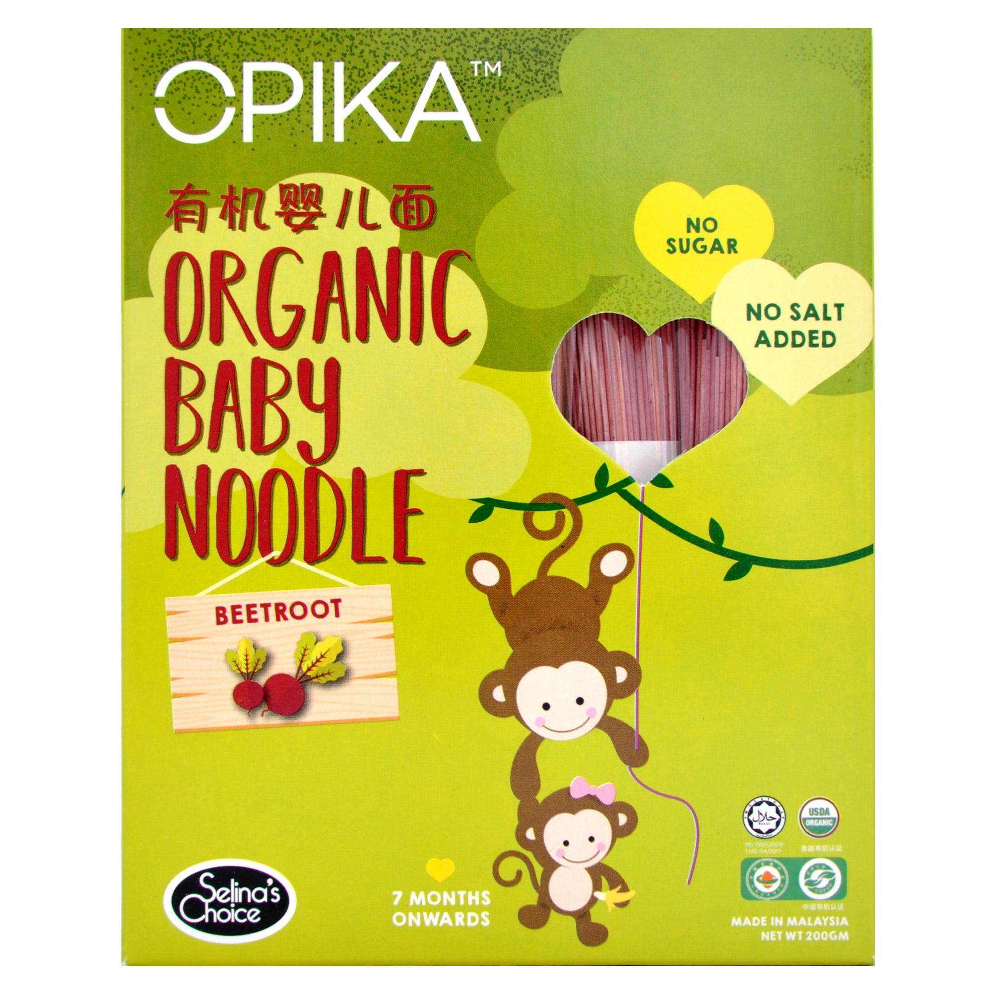OPIKA Organic Baby Noodle, Beetroot - 7 months onwards, 200gm