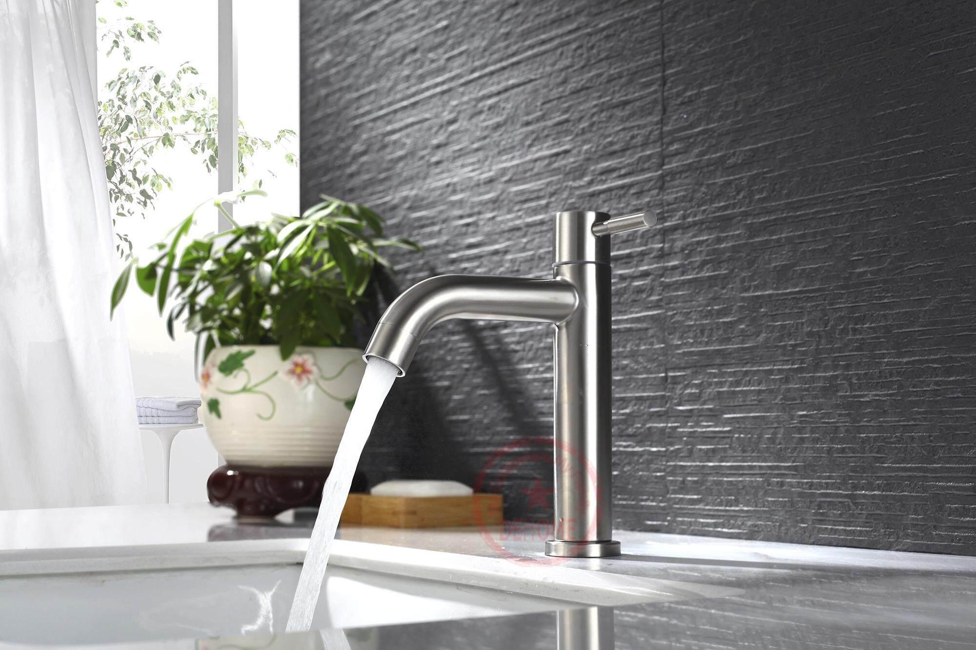 Stainless Steel Sus304 Modern Single Handle Bathroom Faucet Single