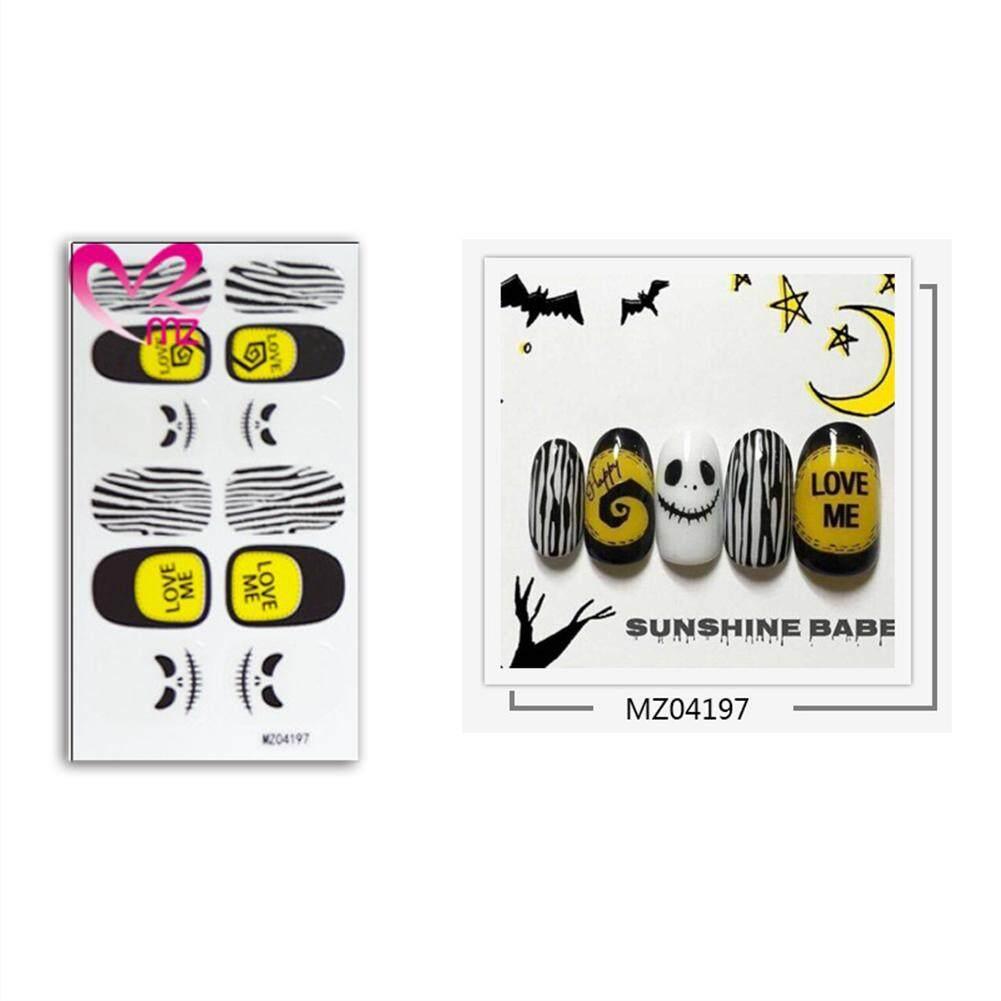 BLY Fashion Halloween Waterproof Nail Art Sticker Decals Watermark Slider Cute Patterns Philippines