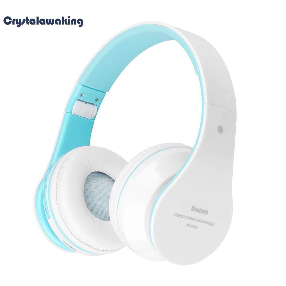 Folded Wireless Bluetooth Stereo Headset Headphone Earphone w/Mic FM Radio
