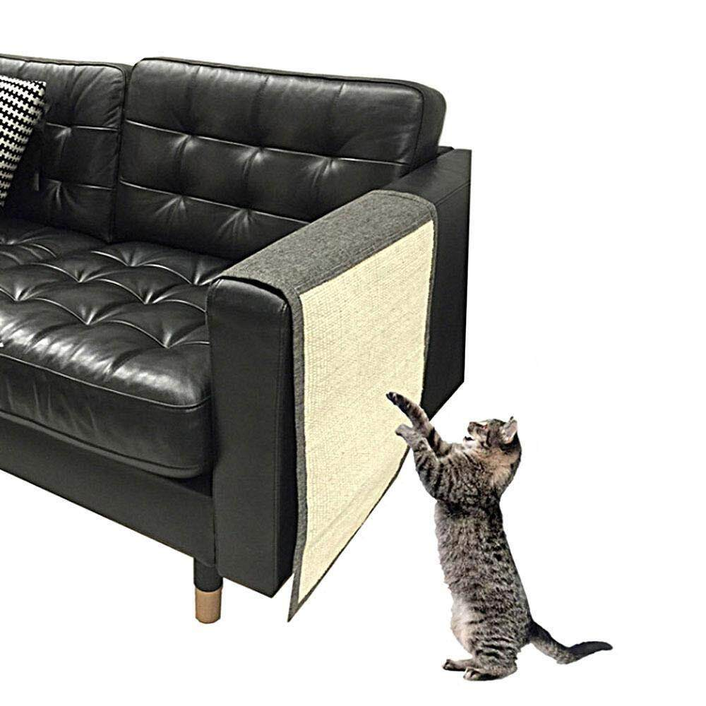 Outflety สัตว์เลี้ยงผ้าหุ้มโซฟา - 2 ไวนิลไส Pet Cat สุนัข Claw Guards กาวแผ่น - รอบคอบ Cat Scratch ที่ป้องกันเฟอร์นิเจอร์, เพื่อป้องกันเบาะ, ผนัง, ที่นอน, ที่นั่งรถ, ประตู By Outflety.