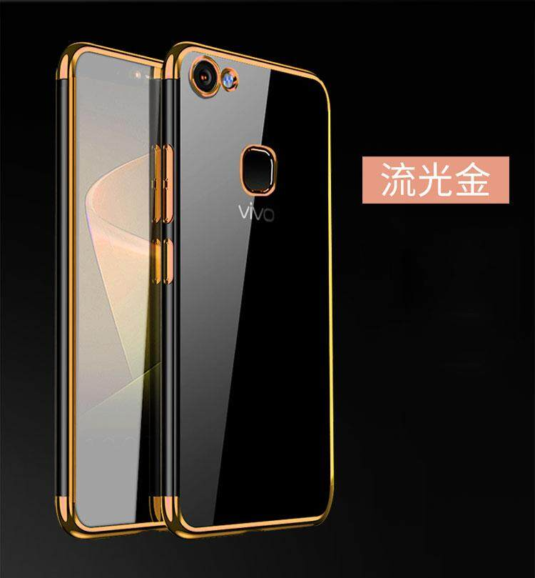 Vivov7 + Casing HP anti jatuh 1716 Casing v7plus kepribadian Bungkus Penuh Silikon transparan soft model