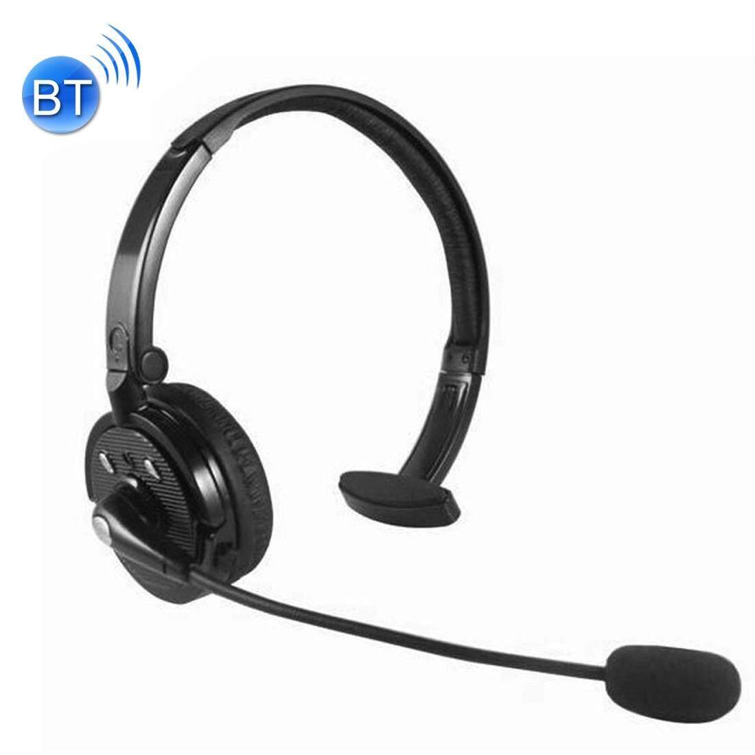 BH-M10B Multi-point Headband Bluetooth Headset Stereo dengan Handsfree Panggilan atau Fungsi Bermain Musik untuk iPhone/Samsung/LG/ HTC/Nokia/Ponsel BlackBerry (Hitam) -Intl