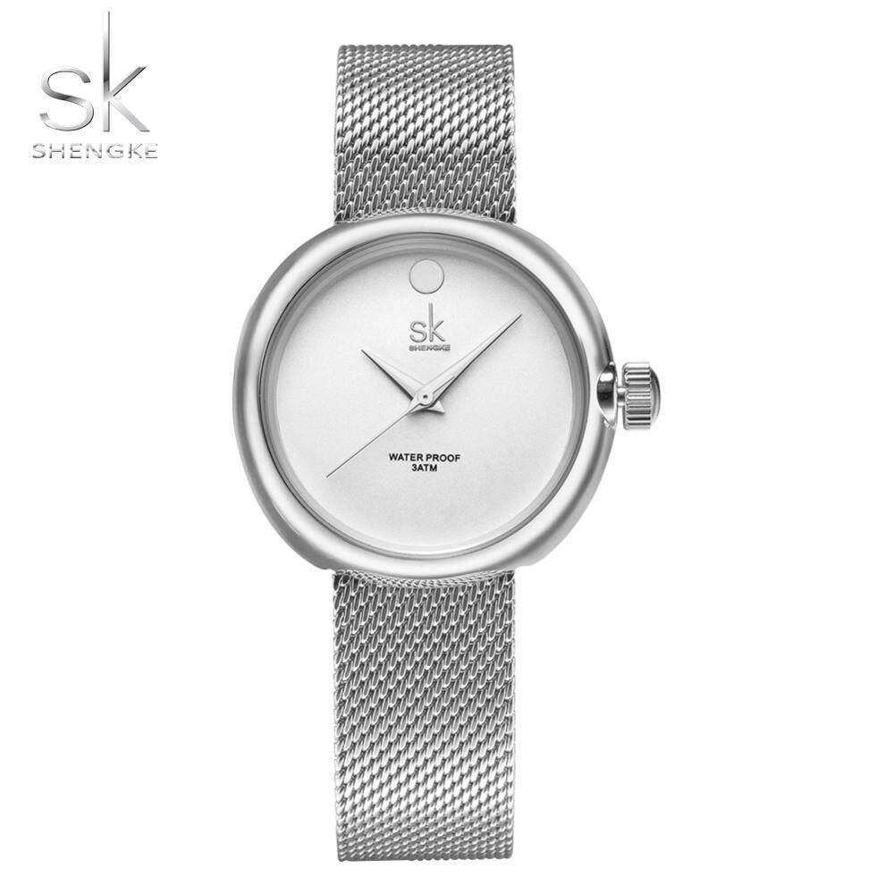 Women Stainless Steel Mesh Strap Watch 30M Waterproof Quartz Round Dial Analog Wristwatch - intl
