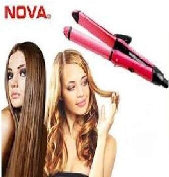 NOVA 2 in 1 Hair Beauty Set/Iron Straightener/Curler
