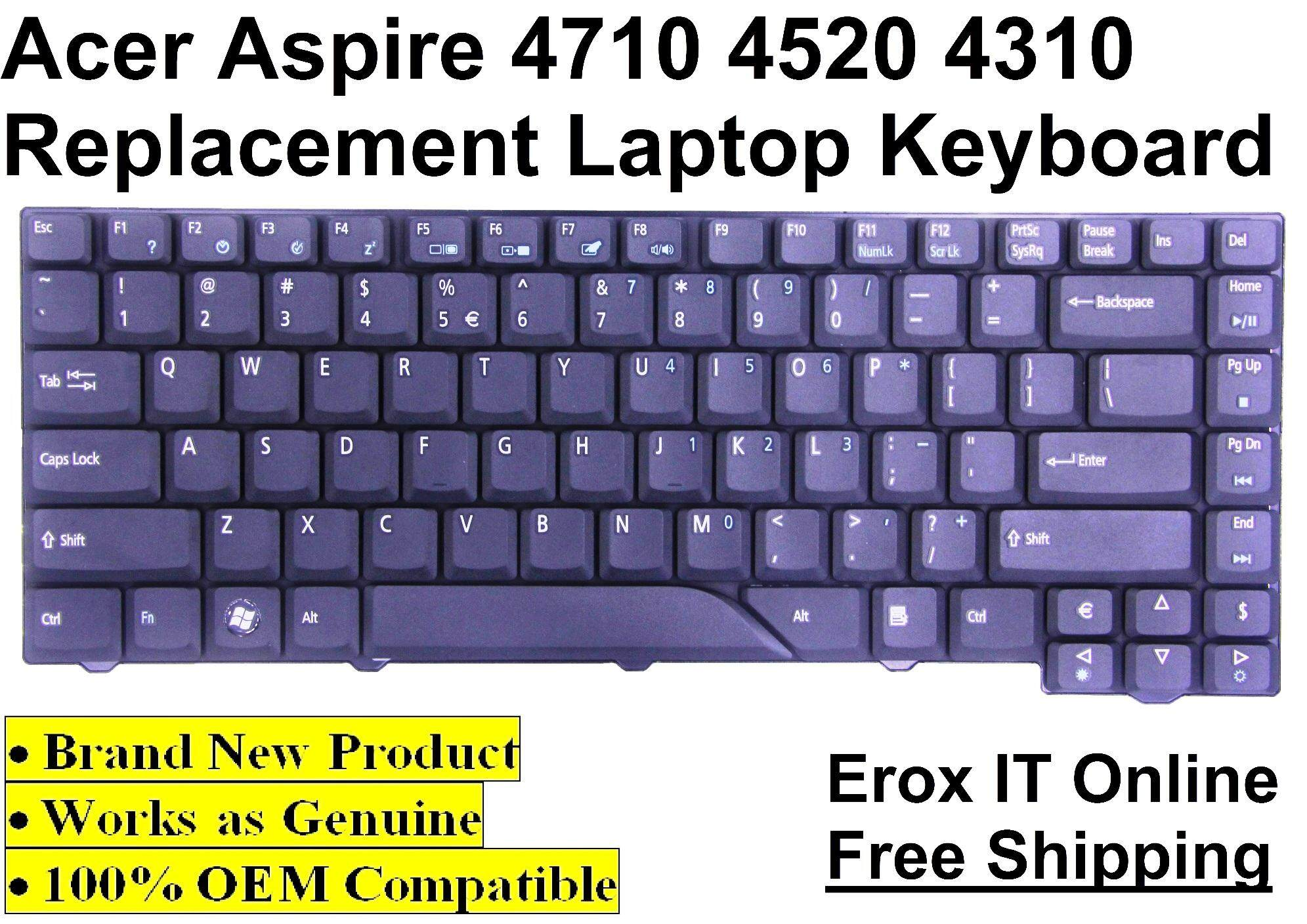 Replacement/Compatible Laptop Keyboard for Acer Aspire 4310 series /Acer 4710 OEM Replacement Keyboard Malaysia