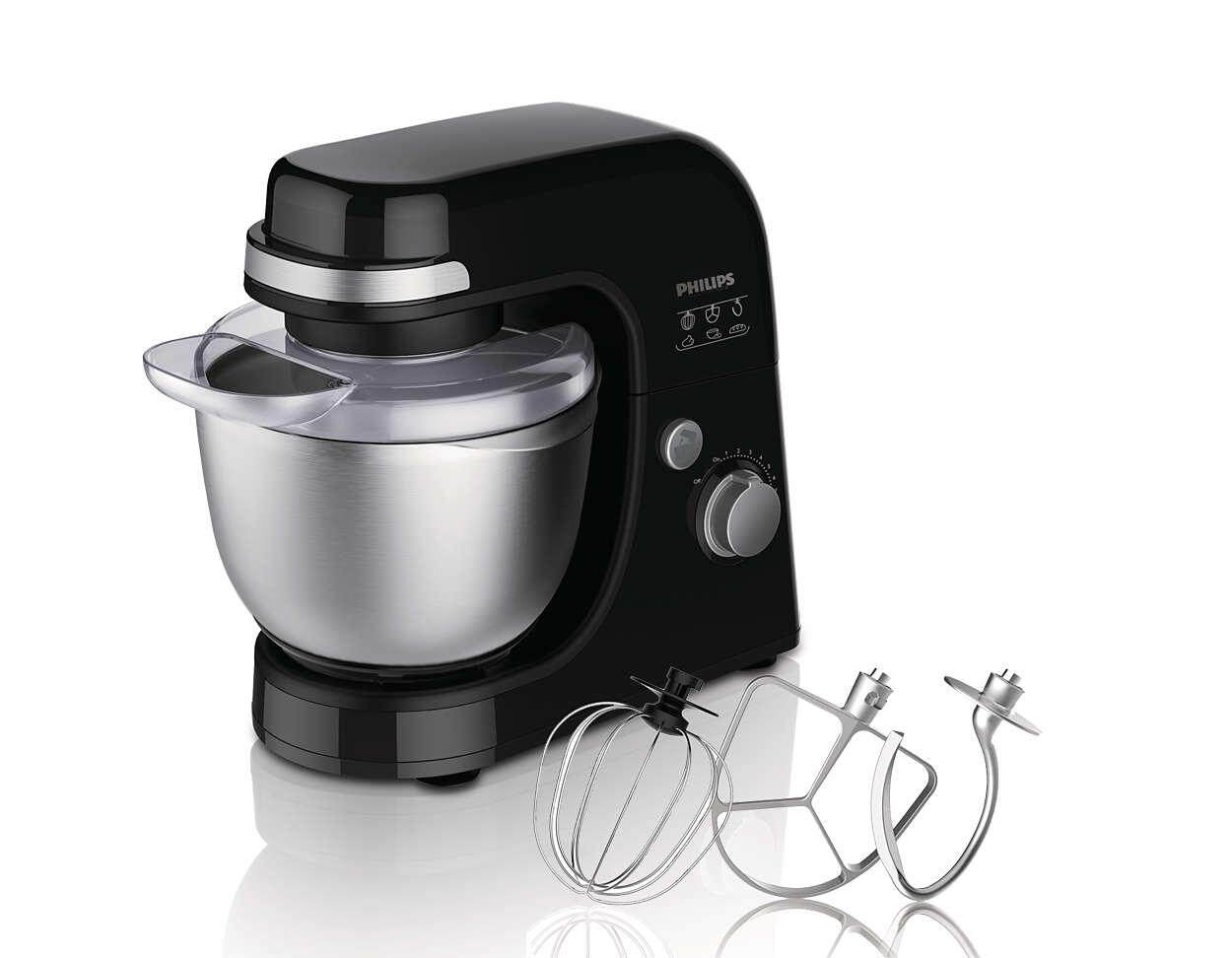 Philips Viva Collection Kitchen Machine (300W,4L, Black) HR7920 ( HR7920/90 )